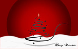 Christmas background. Christmas red background with christmas tree Royalty Free Stock Photo