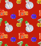 Christmas background red watercolor Stock Photography