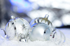 Christmas background with reflective background Royalty Free Stock Photos