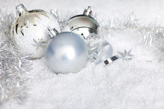 Christmas background with reflective background Stock Photo