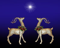 Christmas background reindeer Royalty Free Stock Photography