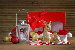 Christmas background with reindeer Stock Image