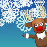 Christmas background with reindeer Royalty Free Stock Image
