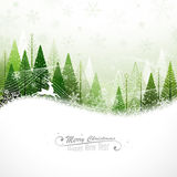Christmas background with reindeer stock illustration