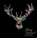Christmas background reindeer design Stock Photography