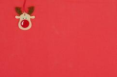 Christmas background. With reindeer Rudolf Stock Image