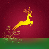 Christmas background with Reindeer Stock Photography