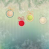 Christmas background with retro balls. + EPS8. Vector file Royalty Free Illustration