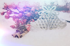 Christmas background with retro effect Royalty Free Stock Photo