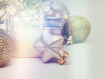 Christmas background with retro effect Royalty Free Stock Images