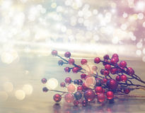 Christmas background with retro effect Stock Photography
