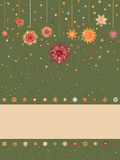 Christmas background with retro pattern. EPS 8 Stock Photography