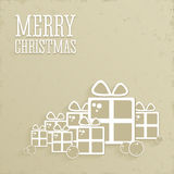 Christmas background in retro style. Royalty Free Stock Photos