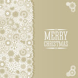 Christmas background in retro style. Christmas background in retro style with snowflakes and place for text. Imitation paper. Soft colors Stock Photo