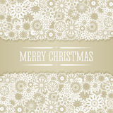 Christmas background in retro style. Christmas background in retro style with snowflakes and place for text. Imitation paper. Soft colors Royalty Free Stock Photos