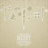 Christmas background in retro style. Stock Photography