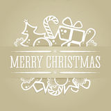 Christmas background in retro style. Stock Photos
