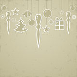 Christmas background in retro style. Stock Images