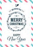 Christmas background retro style. Royalty Free Stock Photos