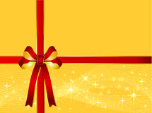 Christmas Background with Ribbon Royalty Free Stock Photo