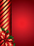 Christmas background with ribbon border Royalty Free Stock Image