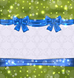 Christmas background with ribbon bows Royalty Free Stock Photography