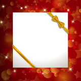 Christmas background with ribbon Stock Photos