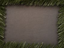 Christmas Background on Chalkboard with Room to Add Your Own Writing Stock Image
