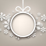 Christmas background with round copyspace. Stock Image