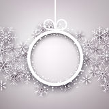 Christmas background with round copyspace. Royalty Free Stock Photos