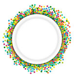 Christmas background round frame from colourful Stock Photos