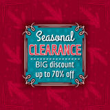 Christmas background and  sale offer label Royalty Free Stock Photos