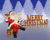 Christmas background Santa  Stock Image