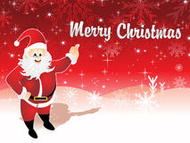 Christmas background with santa Stock Image
