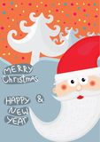 Christmas background with Santa Stock Photography