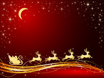 Christmas background with Santa Royalty Free Stock Photography