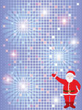 Christmas background with Santa Royalty Free Stock Images