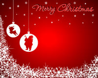 Christmas Background with Santa & Baby Reindeer Stock Images