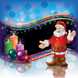 Christmas background with Santa and candles Royalty Free Stock Image