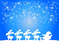 Christmas background with santa claus Royalty Free Stock Photo