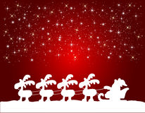 Christmas background with santa claus. Illustration of a christmas background with santa claus Royalty Free Stock Image