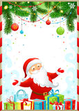 Christmas background with Santa Claus Stock Image