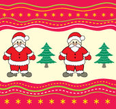 Christmas background with Santa Claus. Royalty Free Stock Photo