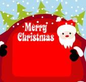 Christmas background santa claus Stock Image