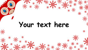 Christmas background with Santa Claus  advertising card Stock Photography