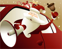 Christmas background with Santa Claus Royalty Free Stock Photography