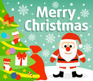 Christmas background with Santa Claus. Christmas  background card with  Santa Claus Royalty Free Stock Photography