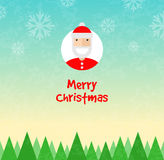 Christmas background. Santa Claus character Stock Images