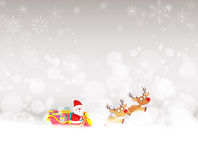 Christmas background with santa claus and deer. Background christmas and happy new year Stock Images