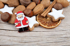 Christmas background with Santa Claus and more Stock Photos